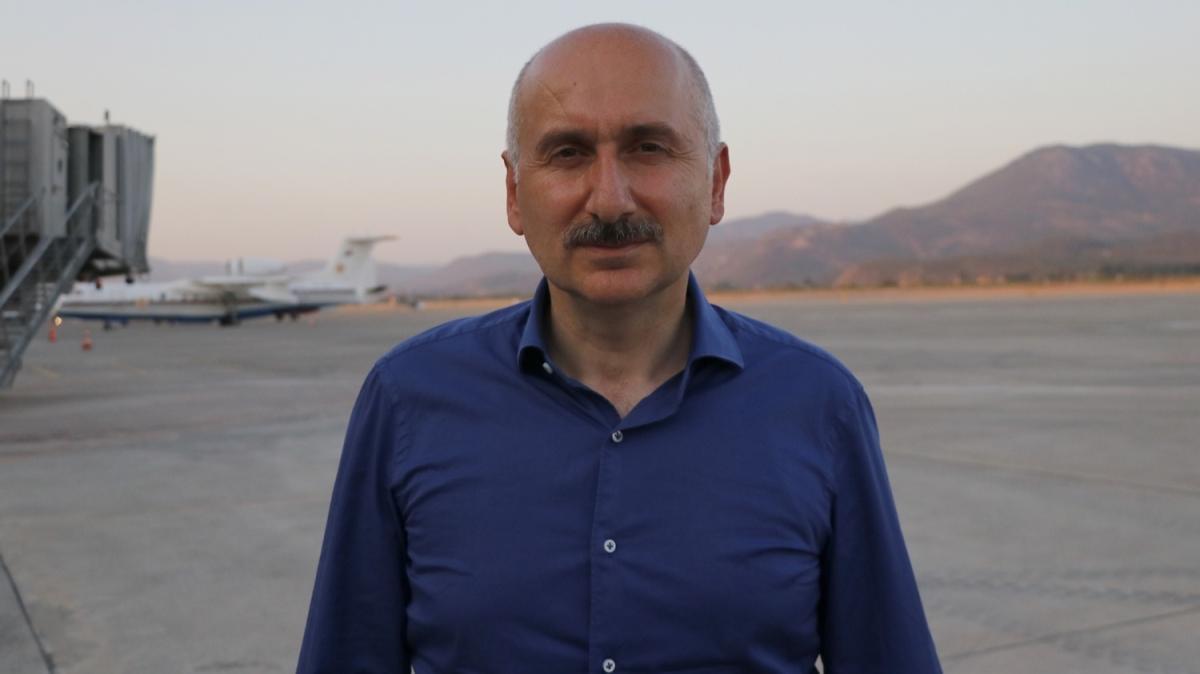 Bakan Karaismailoğlu'ndan Dalaman Havalimanı yakınındaki orman yangınına ilişkin açıklama