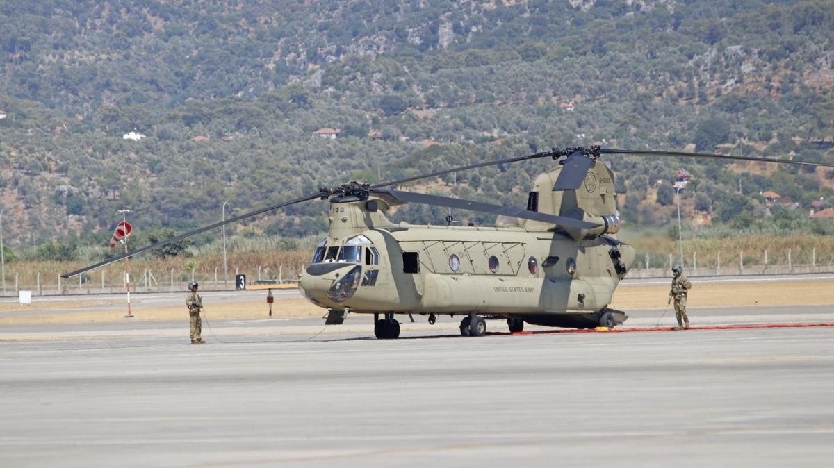 ABD'den 2 helikopter Muğla'ya geldi