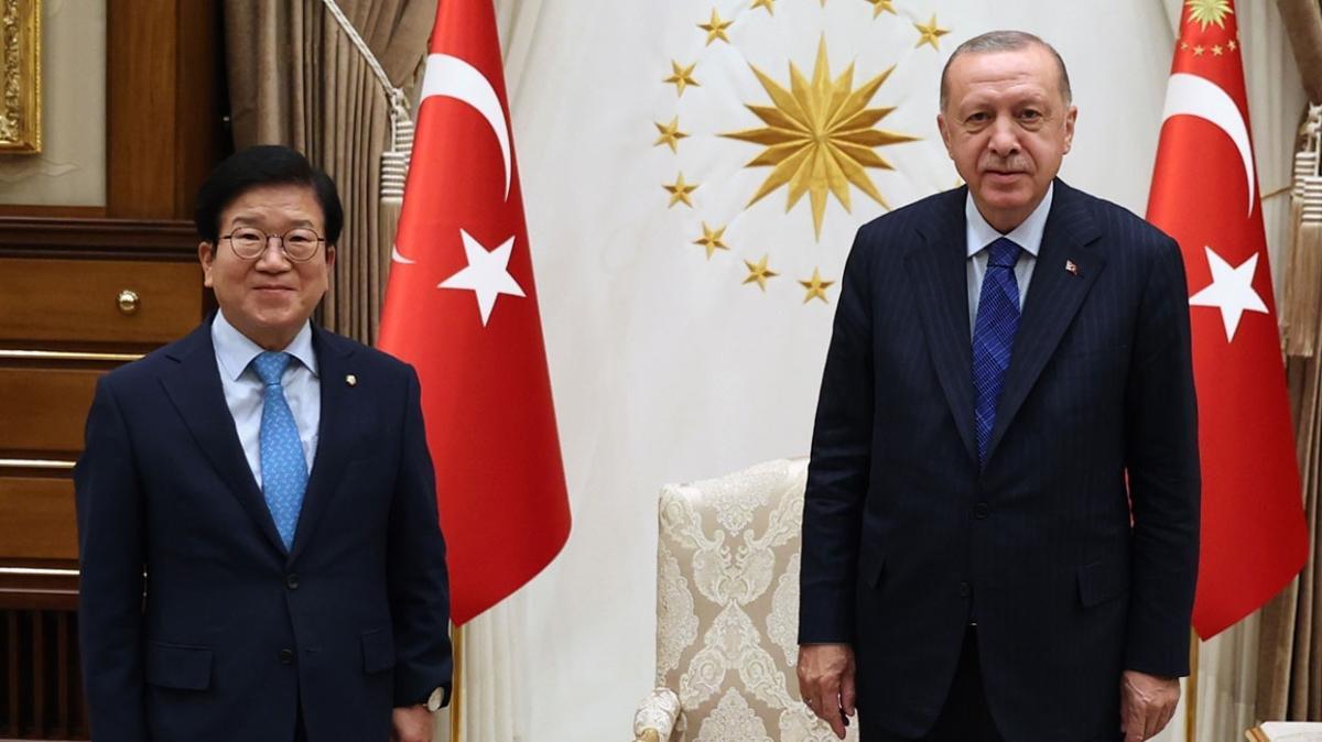 Başkan Erdoğan, Güney Kore Meclis Başkanı'nı kabul etti