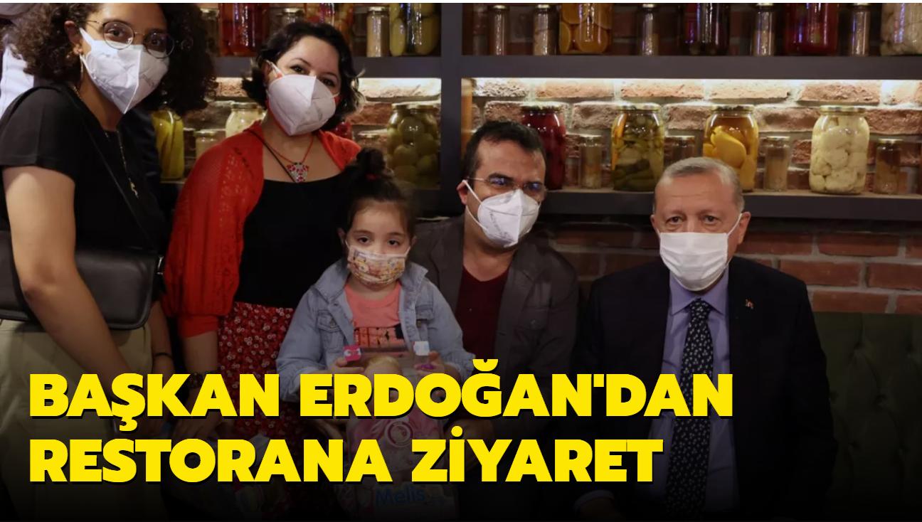Başkan Erdoğan Çengelköy'de bir restorana uğradı