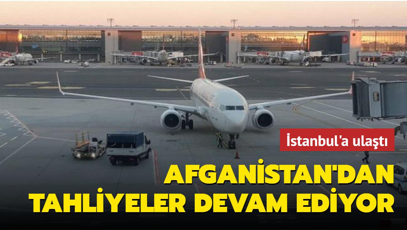 357 Türk vatandaşını Afganistan'dan tahliye eden THY uçağı İstanbul'a ulaştı