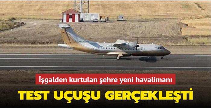 Azerbaycan'ın Ermenistan işgalinden kurtulan şehri Fuzuli'ye yeni havalimanı... Test uçuşu gerçekleşti