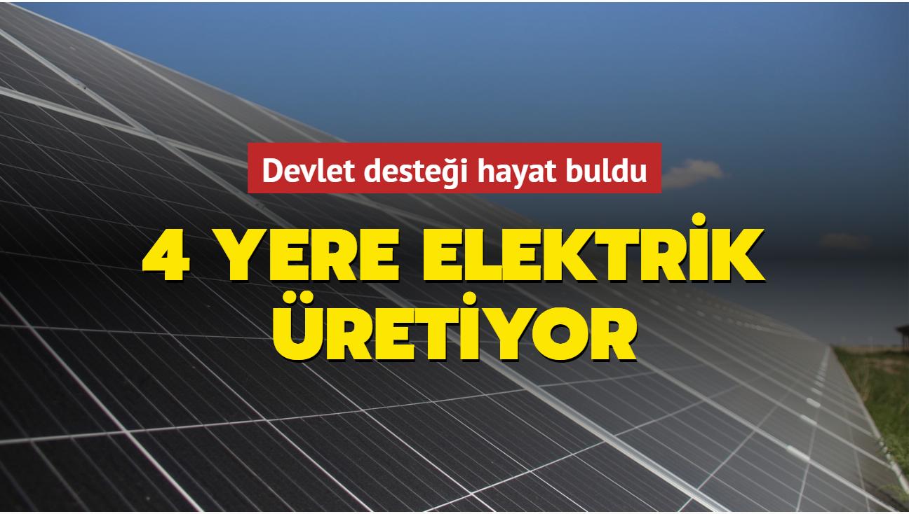 Devlet desteği hayat buldu... 4 yere elektrik üretiyor