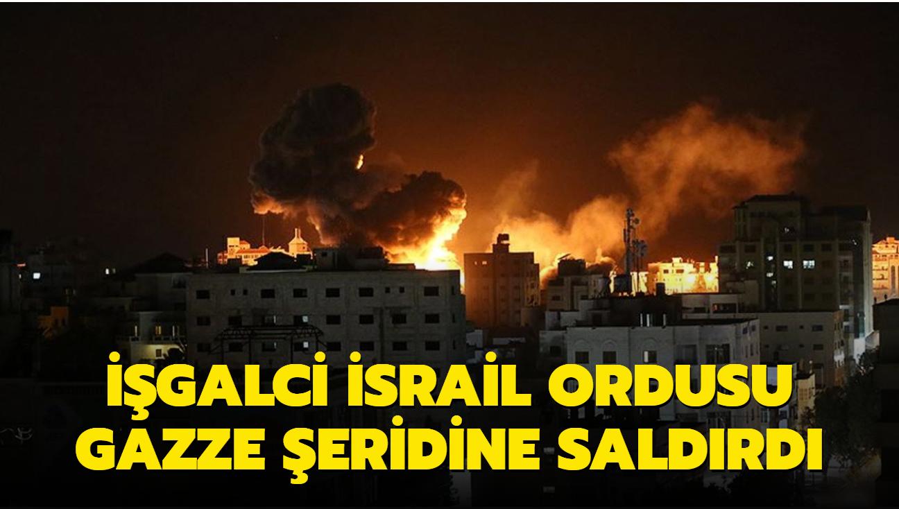 İşgalci İsrail ordusu Gazze Şeridi'ne hava saldırısı düzenledi