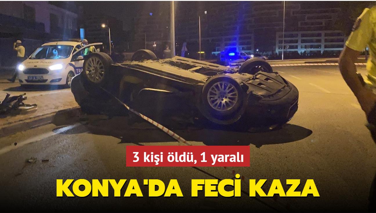 Konya'da feci kaza... 3 genç öldü