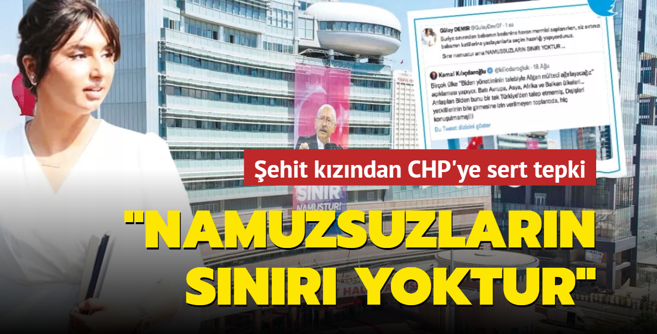 Şehit kızından CHP'ye sert tepki: 'Namuzsuzların sınırı yoktur'