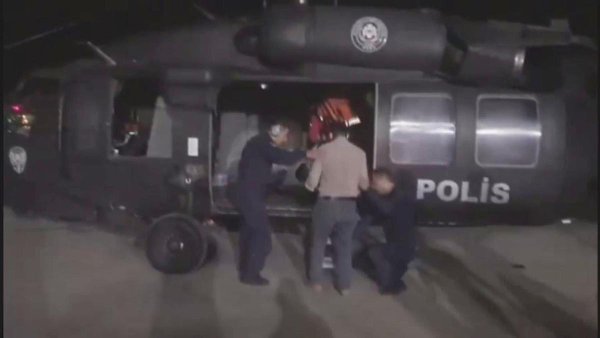 Polis helikopteri Muhammed bebek için havalandı