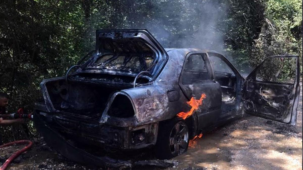 Yasak olmasına rağmen ormana gittiler... Araçları yandı