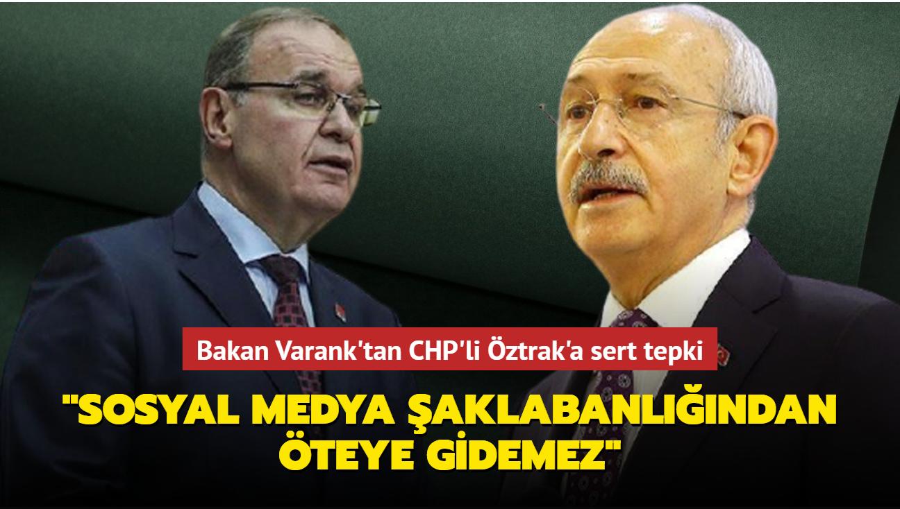 Bakan Varank'tan CHP'li Öztrak'a sert tepki: Sosyal medya şaklabanlığından öteye gidemez