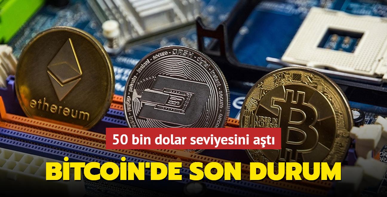 Bitcoin'de son durum... 50 bin dolar seviyesini aştı