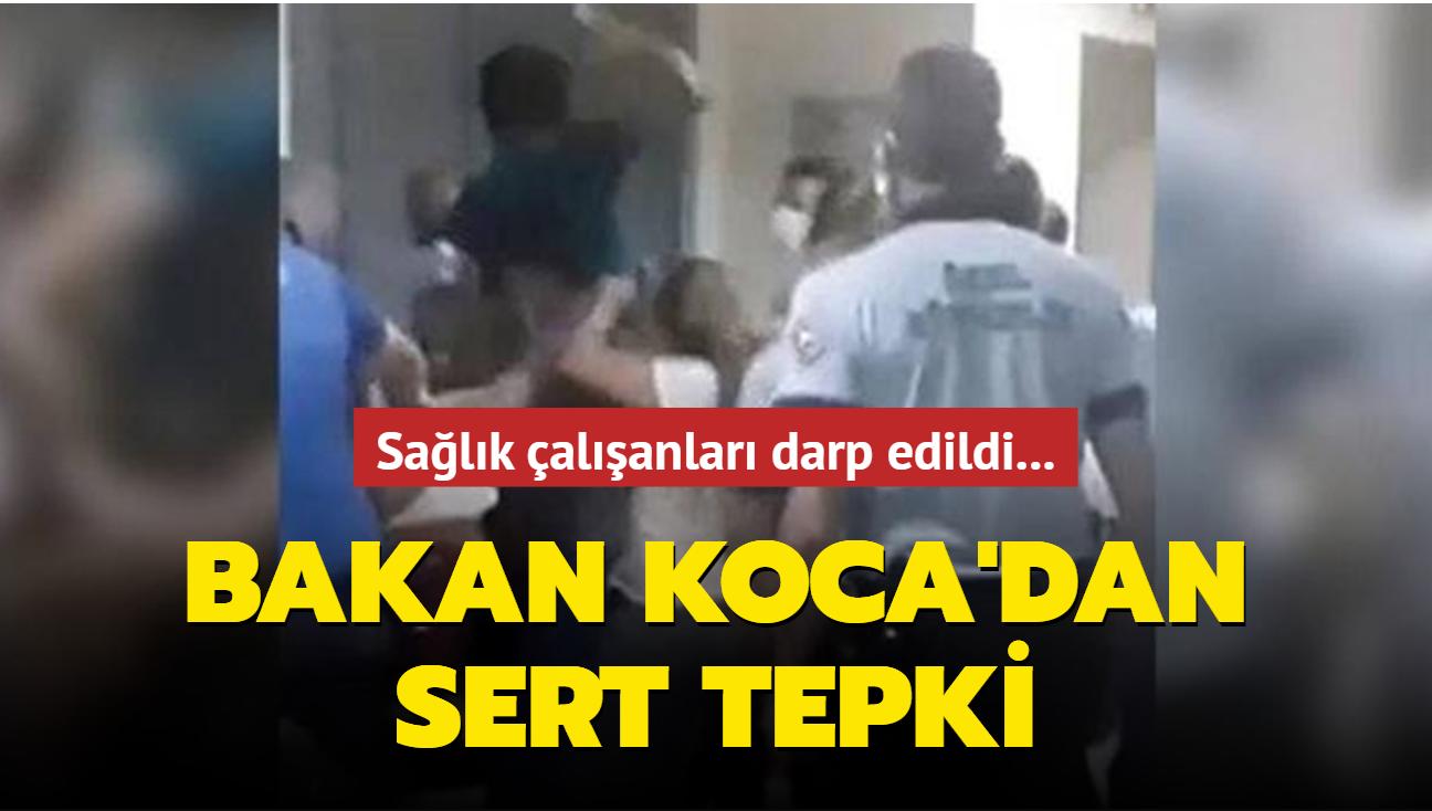 Sağlık çalışanları darp edildi: Bakan Koca'dan sert tepki