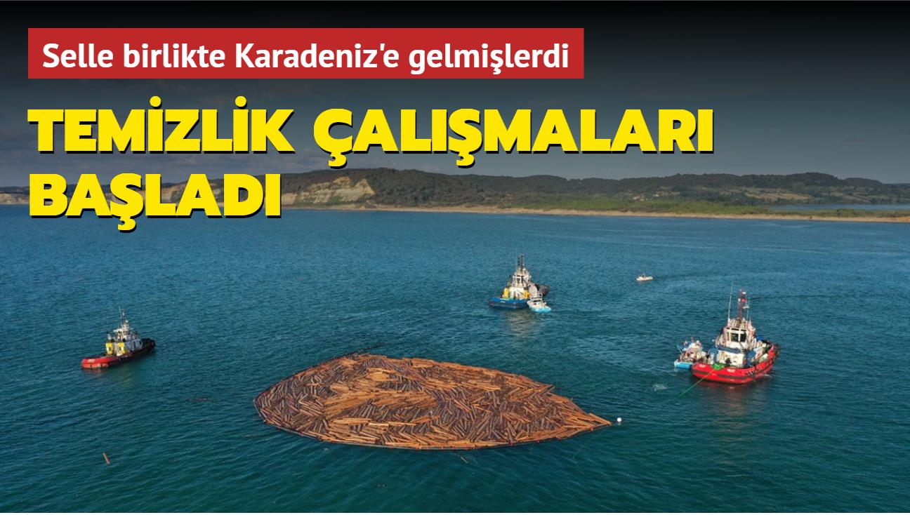 Sel sonrası Karadeniz'e gelmişlerdi... Temizlik çalışmaları başladı