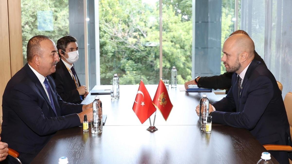 Dışişleri Bakanı Mevlüt Çavuşoğlu, Karadağlı mevkidaşıyla bir araya geldi
