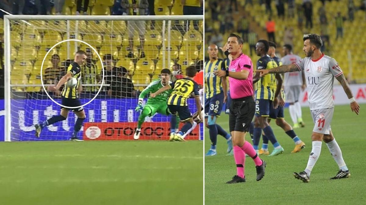 Fenerbahçe-Antalyaspor maçında görülmemiş penaltı tepkisi