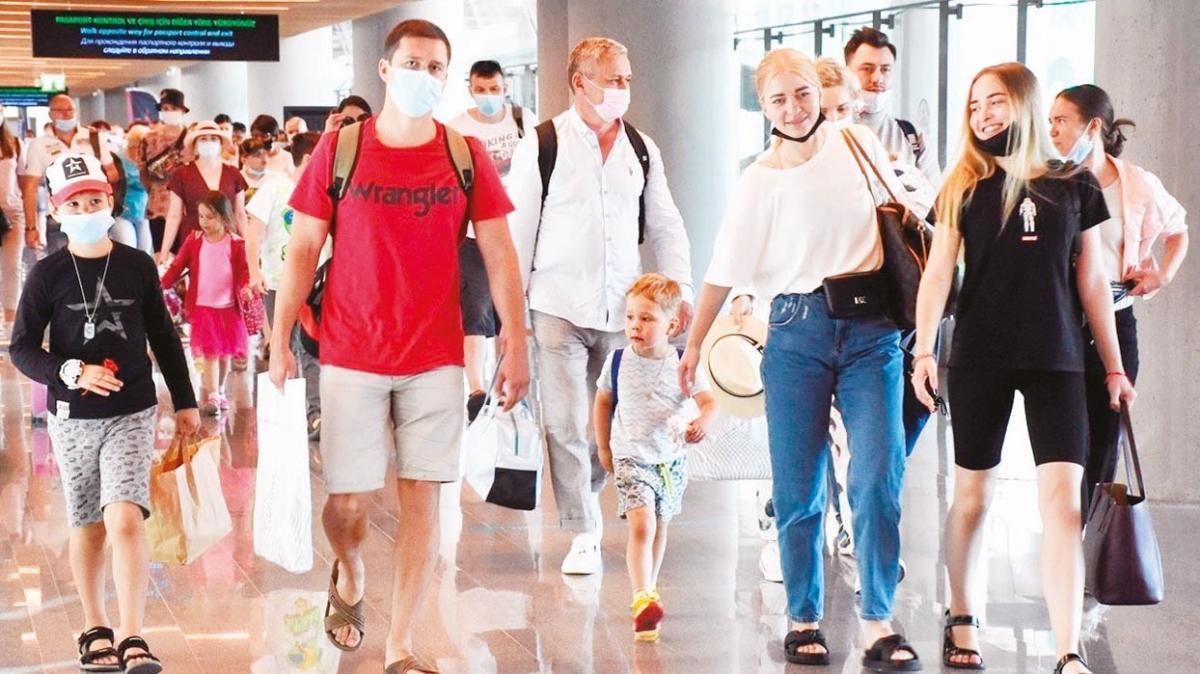Yabancı ziyaretçi sayısı 21 ayın zirvesine ulaştı