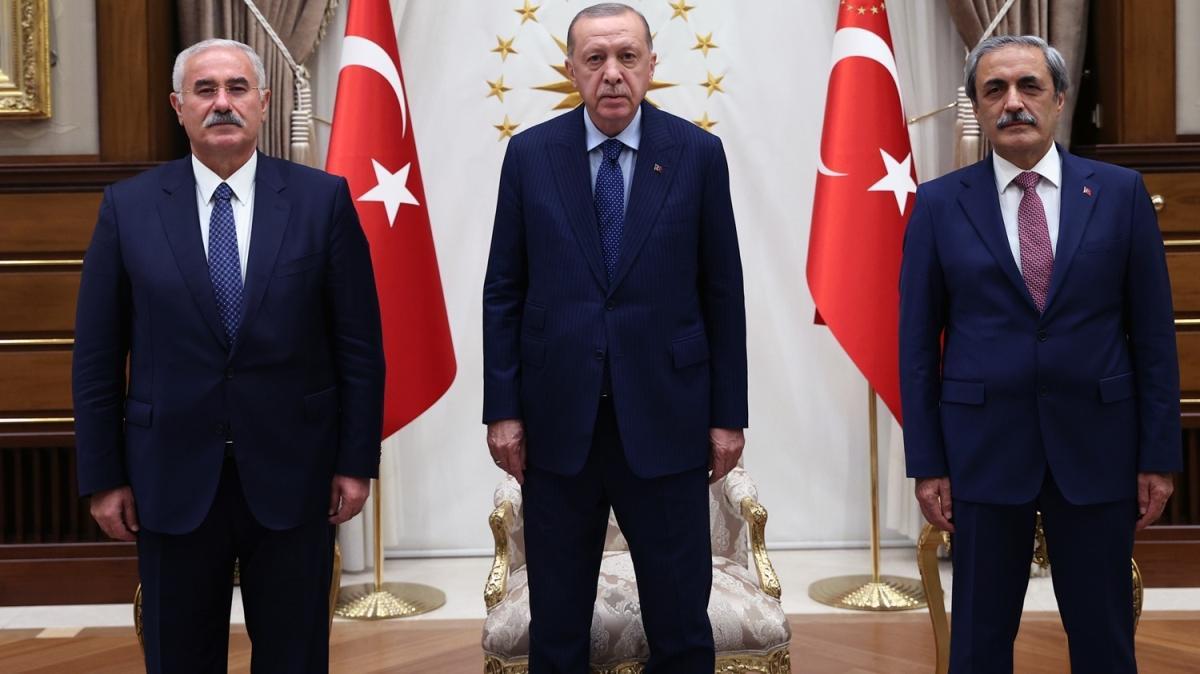 Başkan Erdoğan Yargıtay yetkilileriyle görüştü