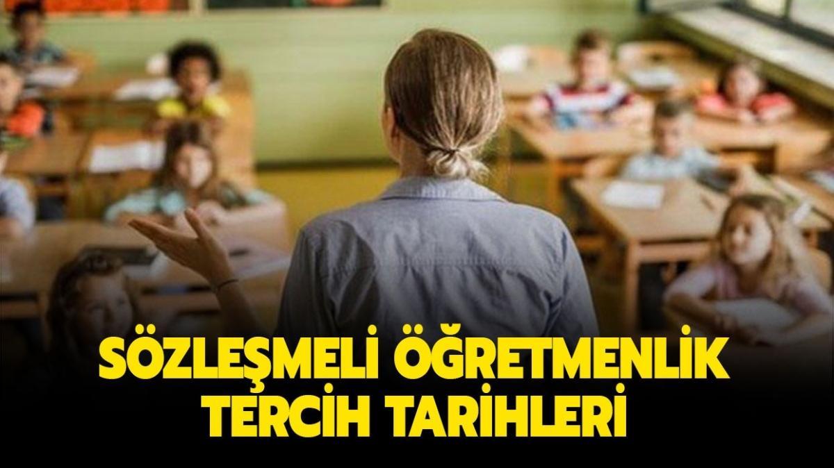 """Sözleşmeli öğretmenlik ne zaman açıklanacak"""""""
