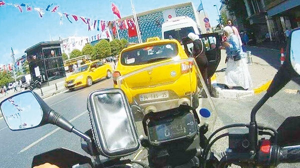 Yüzsüz taksici çifte ceza yedi