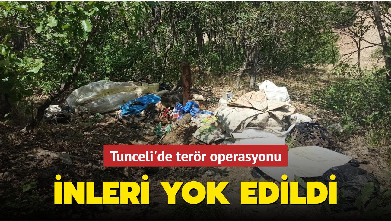 Tunceli'de terör operasyonu... İnleri yok edildi