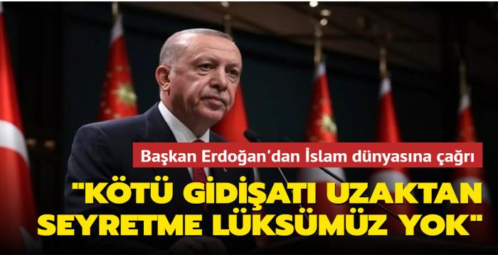 Başkan Erdoğan, İslam İşbirliği Teşkilatı Gençlik Forumu'na video mesaj gönderdi