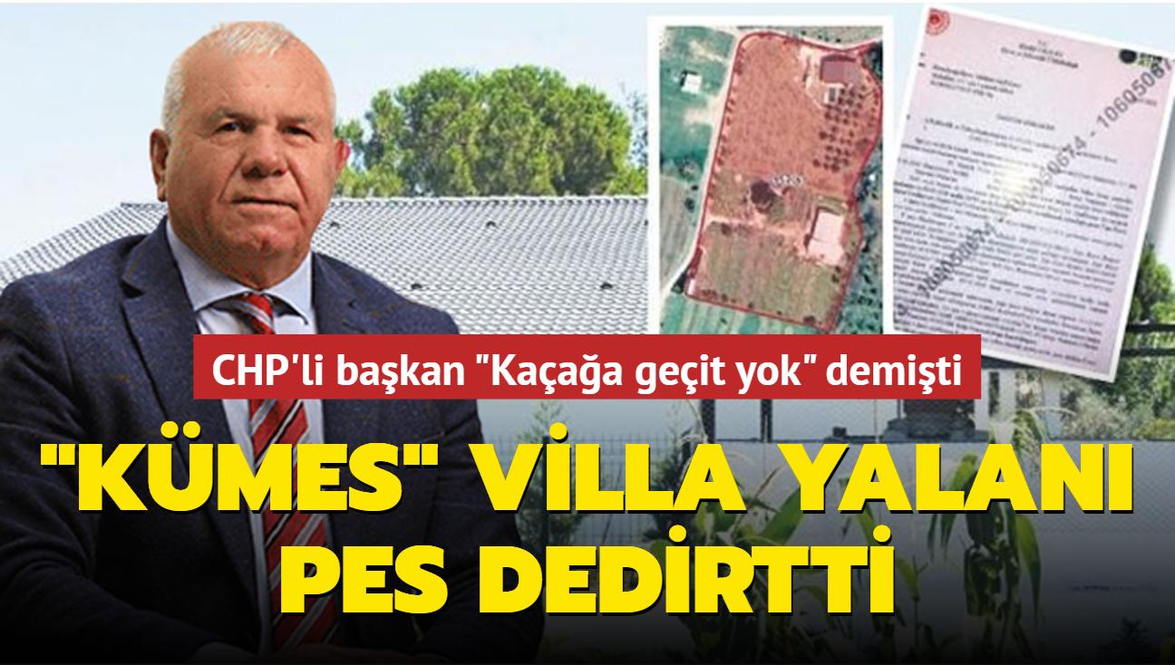 """CHP'li başkan """"Kaçağa geçit yok"""" demişti: Villasını tavuk kümesi olarak göstermiş"""