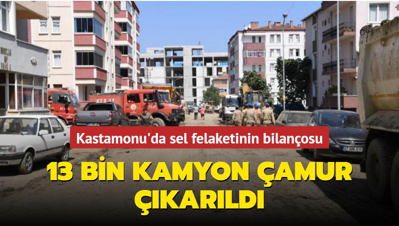 Kastamonu'da sel felaketinin bilançosu: 13 bin kamyon çamur çıkarıldı