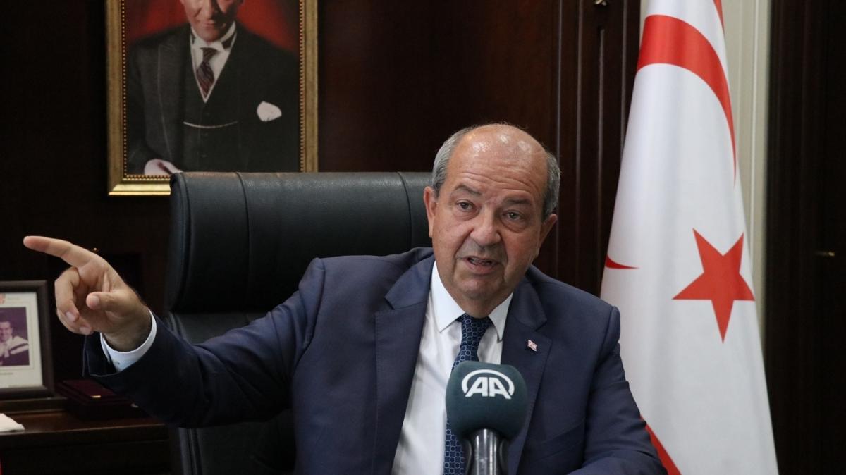 KKTC Cumhurbaşkanı Tatar'dan Rum kesimine tepki: Siyasi bir meseleyi bireyselliğe çekiyorlar