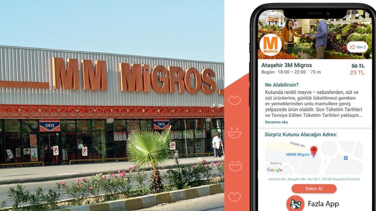 Migros'un 'sürpriz kutusu'nda gıdalar yüzde 50 indirimli