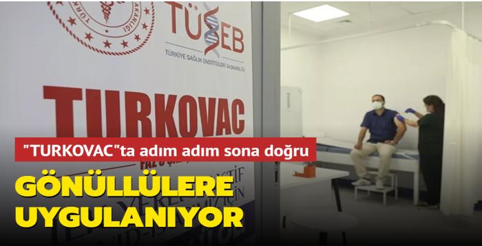 """Yerli inaktif kovid-19 aşısı """"Türkovac"""", Kayseri'deki gönüllülere uygulanmaya başlandı"""