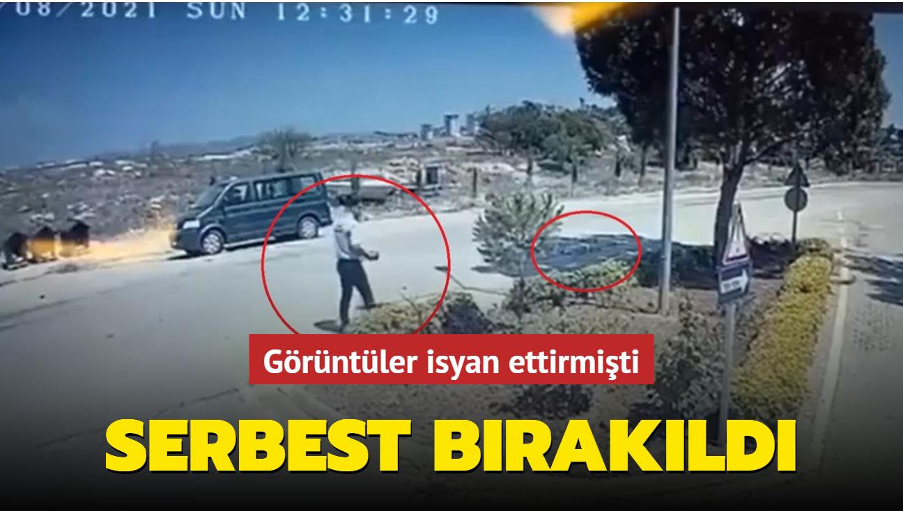 Adana'da köpeğin üzerine kaynar su döken güvenlikçi serbest bırakıldı