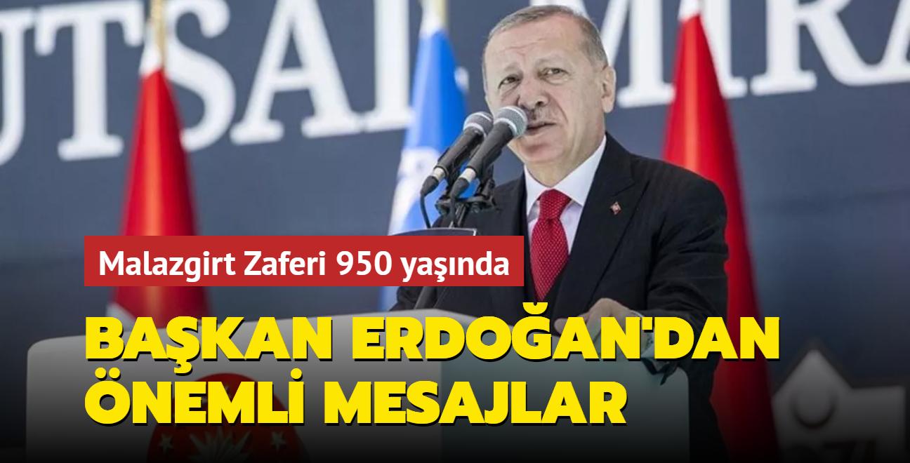 Başkan Erdoğan, Malazgirt Fetih Programı'na katıldı