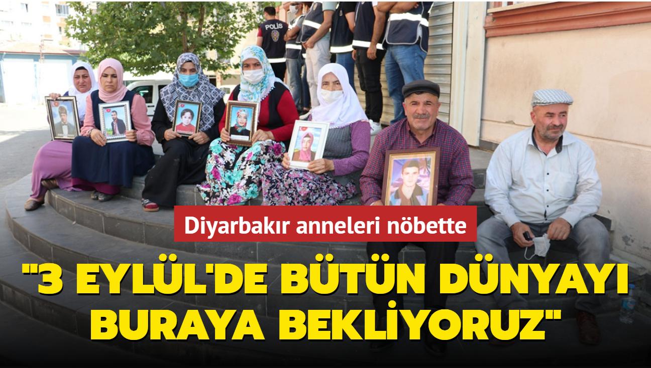 """Diyarbakır anneleri dünyaya çağrıda bulundu... """"3 Eylül'de buraya bekliyoruz"""""""