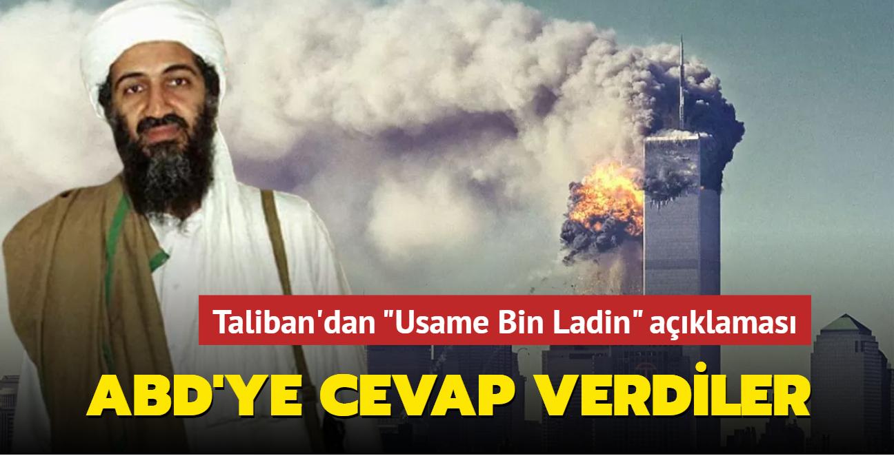 """Taliban'dan """"Usame Bin Ladin"""" açıklaması: ABD'ye cevap verdiler"""