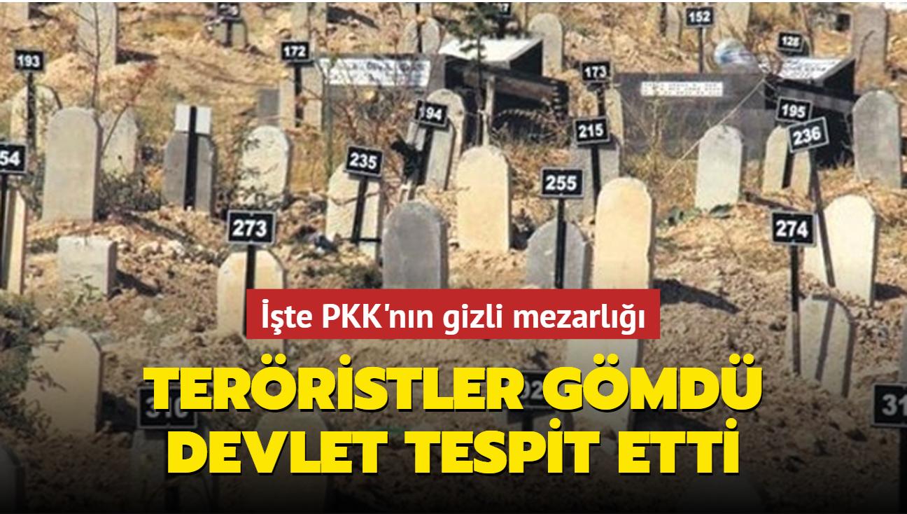 Teröristler gömdü devlet tespit etti! İşte PKK'nın gizli mezarlığı