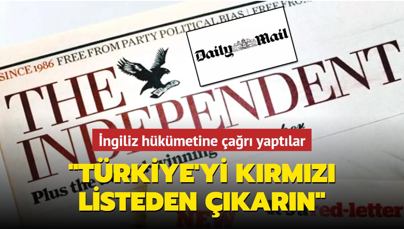 Türkiye'yi kırmızı listeden çıkarın