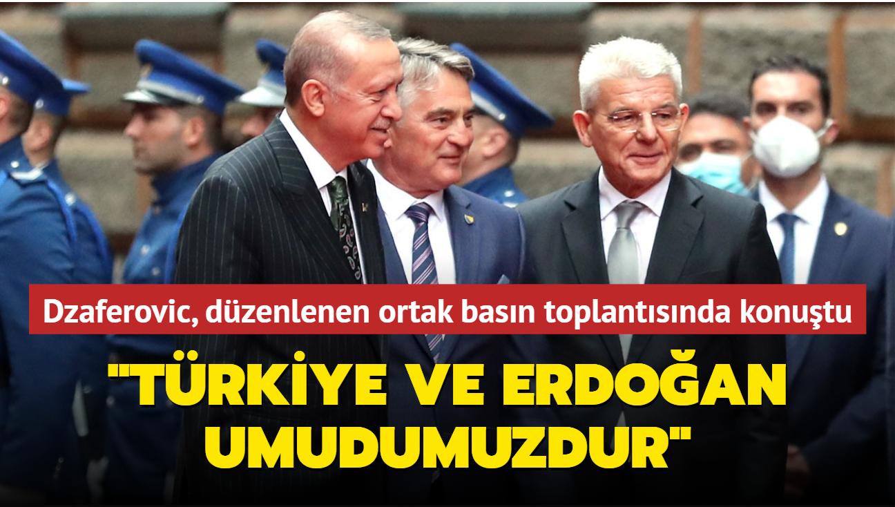 Bosna Hersek Devlet Başkanlığı Boşnak üyesi ortak basın toplantısında konuştu: Türkiye ve Erdoğan umudumuzdur