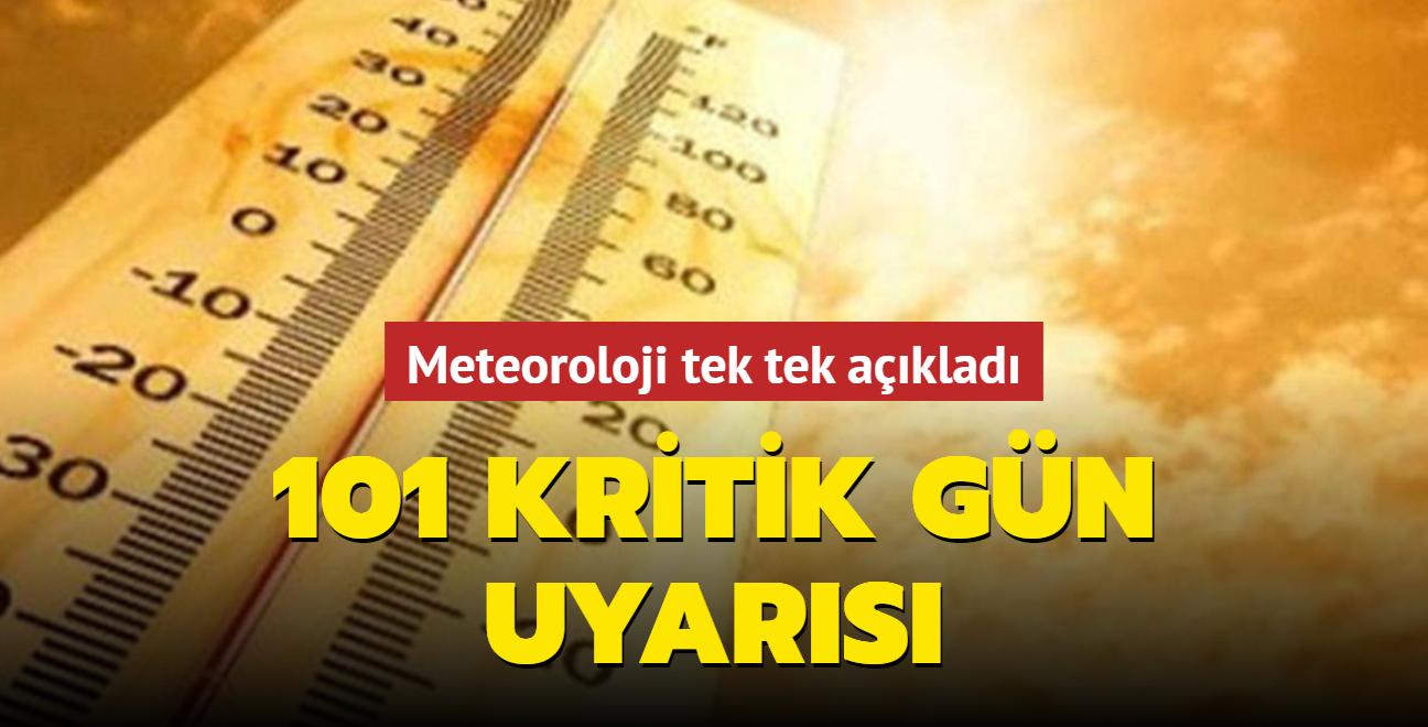 Meteorolojiden aşırı sıcak uyarısı: 101 güne 20 kritik önlem