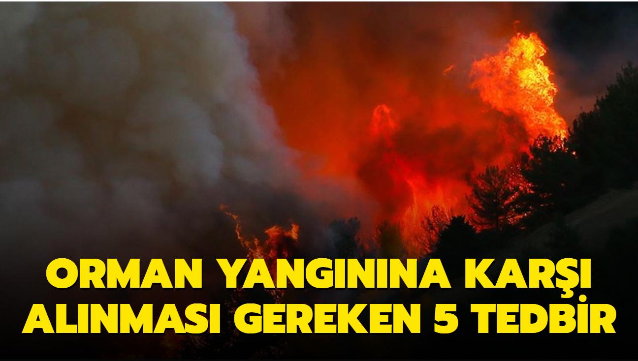 Orman yangınına karşı alınması gereken 5 tedbir