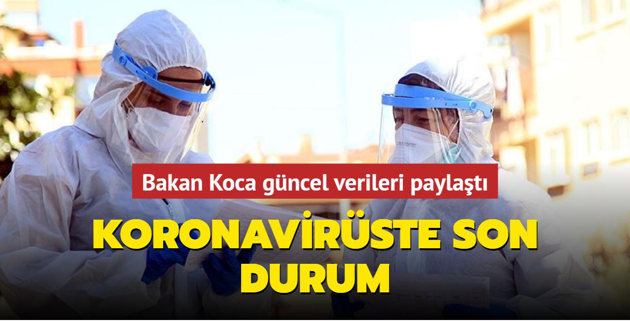 Sağlık Bakanı Fahrettin Koca koronavirüs salgınına ilişkin son durumu paylaştı... İşte 27 Ağustos 2021 koronavirüs tablosu