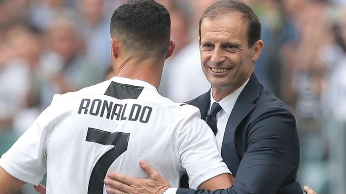 Allegri: 'Ronaldo takımdan ayrılmak istediğini söyledi'