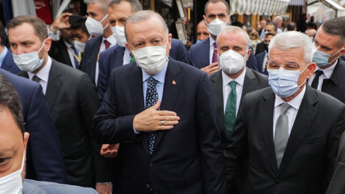 Başkan Erdoğan Bosna'da... Devlet Başkanlığı Binası'nda törenle karşılandı