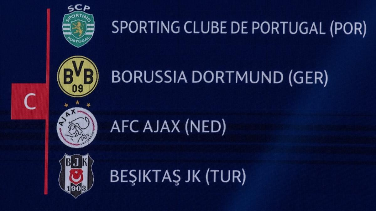 Beşiktaş'ın grubunda üç şampiyon var