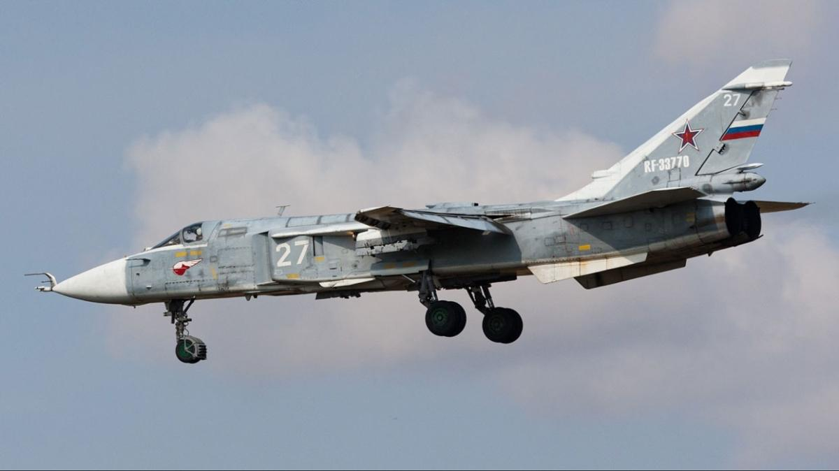 Rusya'nın Perm bölgesinde Su-24 savaş uçağı kaza yaparak düştü