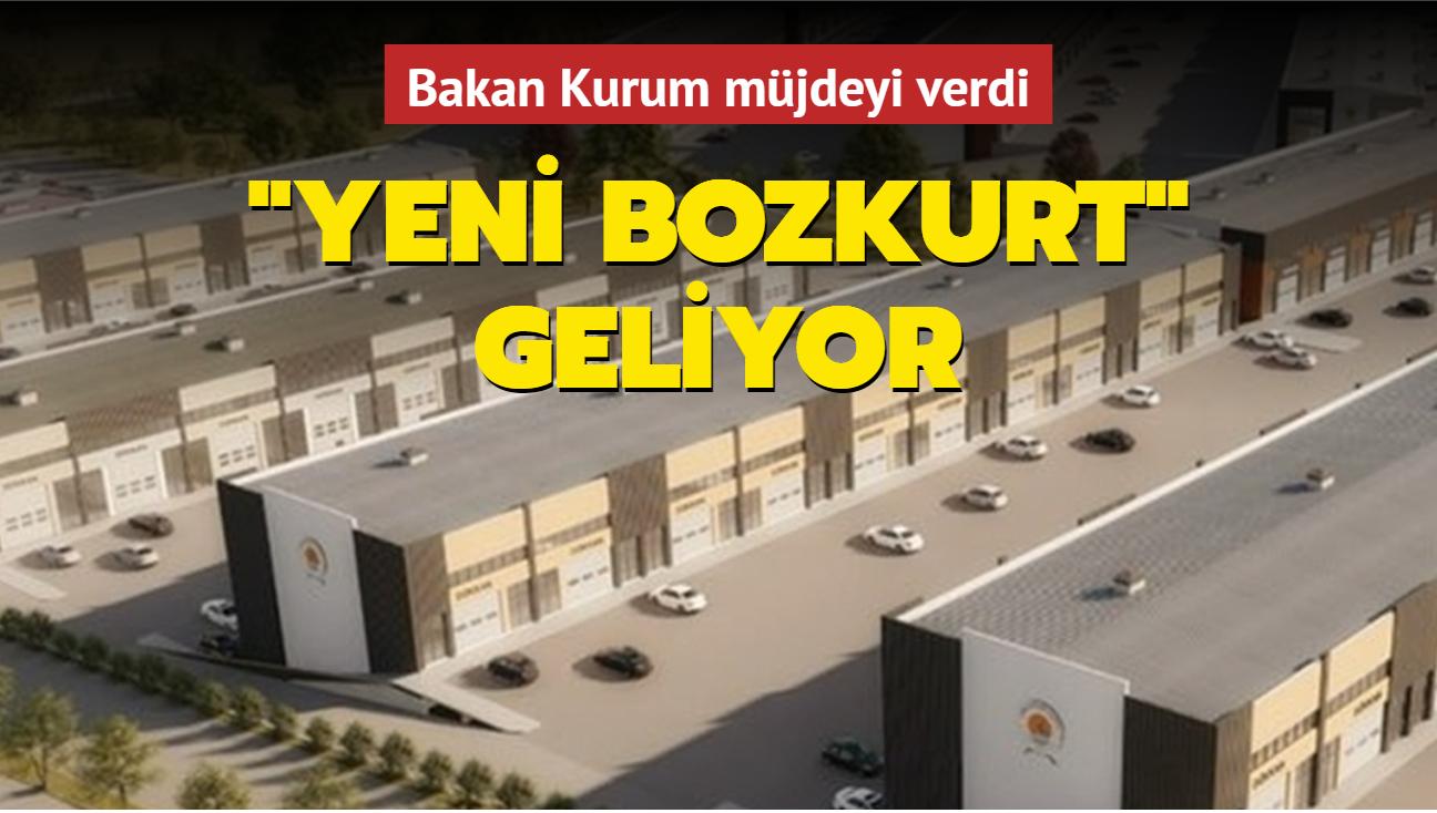 """Bakan Kurum müjdeyi verdi: """"Yeni Bozkurt"""" inşa ediliyor"""