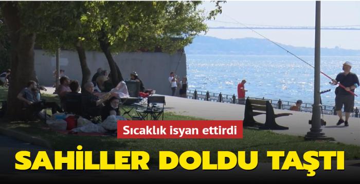İstanbul sahilleri doldu taştı