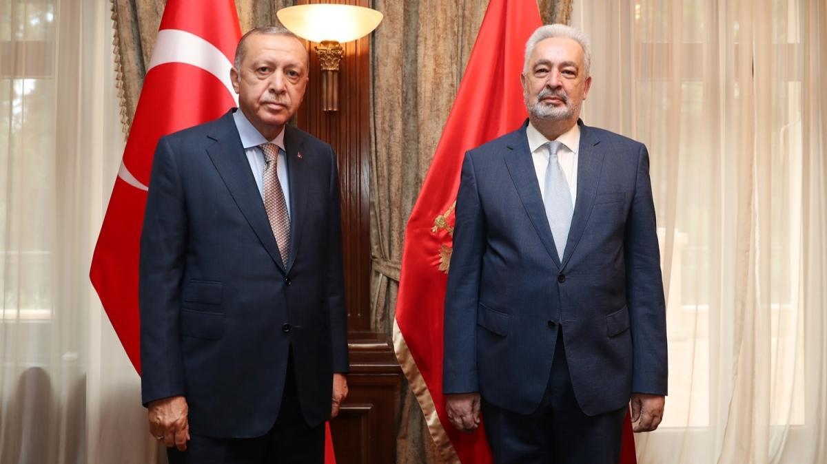 Başkan Erdoğan, Karadağ Başbakanı Krivokapiç'i kabul etti