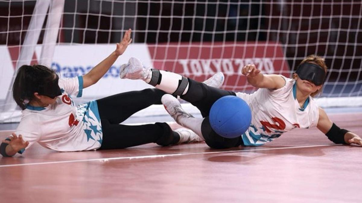 Kadınlar golbol maçında Türkiye, Brezilya'yı 8-4 mağlup etti