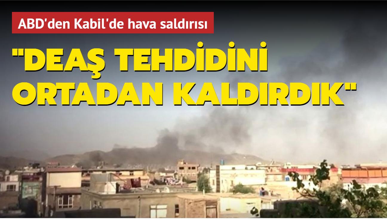 ABD Kabil'de saldırdı... Deaş-Horasan aracını havadan patlattılar