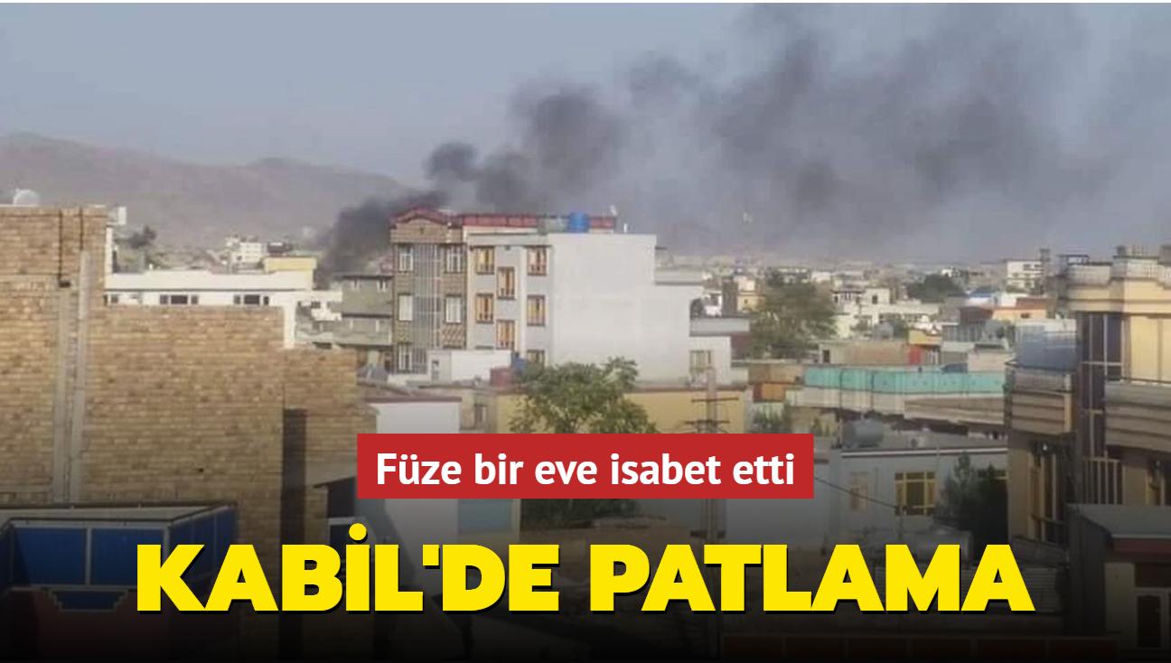 Kabil'de füze bir eve isabet etti