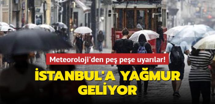 Meteoroloji uyardı: Marmara bölgesine yağmur geliyor